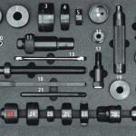 Universal disc brake tool box